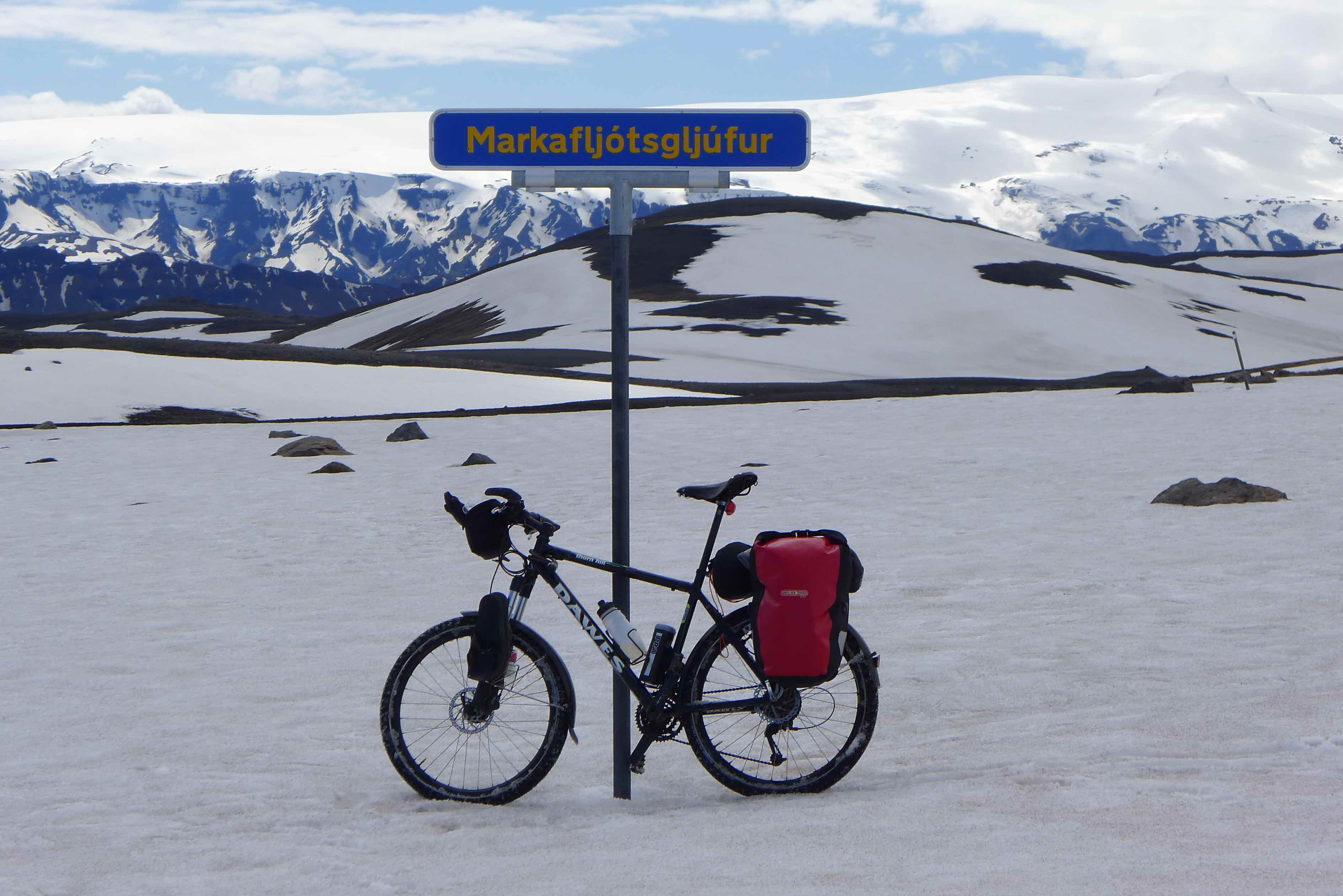Snowy Markarfljótsgljúfur
