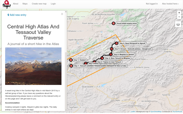 Central High Atlas and Tessaout Valley Traverse screenshot