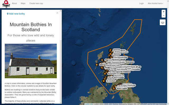 Mountain Bothies in Scotland screenshot